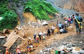 A picture of a deadly landslide in Ecuador on january 24, 2013.